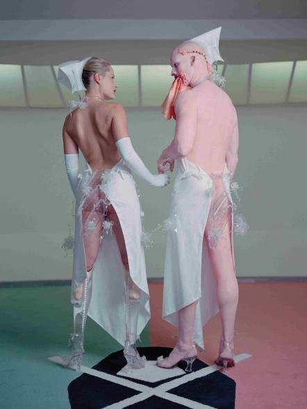 Aimee Mullins & Matthew Barney in Cremaster 3