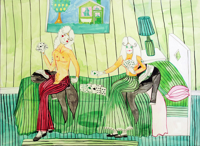 Figure 1 Aurie Ramirez, Untitled. 2000. Watercolor and ink on paper. 22 x 30. Image courtesy of Creative Growth.