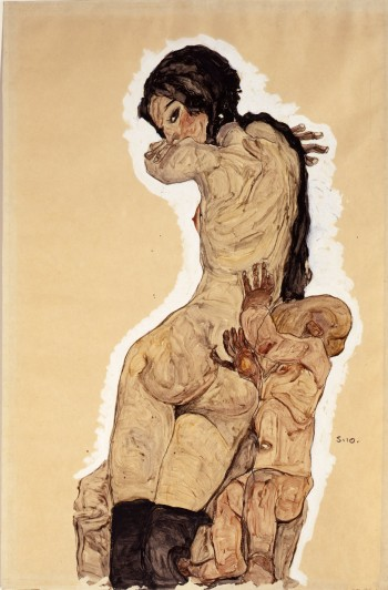 """Woman with Homunculus"" by Egon Schiele, 1910."