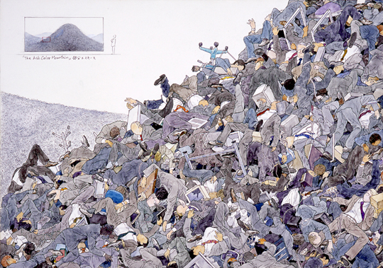 """The Ash Color Mountain (detail-Esquisse)"" by AIDA Makoto, 2008 ."